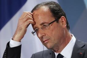 Merkel And Hollande Meet Hours After Hollande's Inauguration