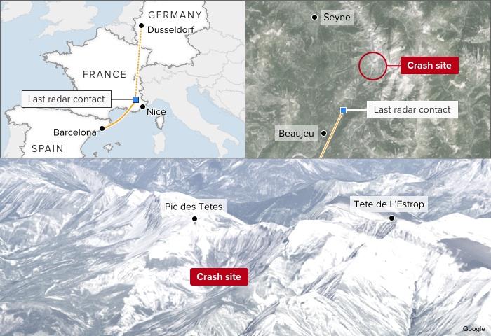map-germanwings-4u9525-plane-crash-data