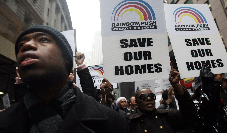 Jesse Jackson Rallies On Wall Street For Mortgage Lending Reform